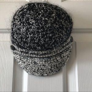 Armani Exchange | Black & White Knit Hat Cap
